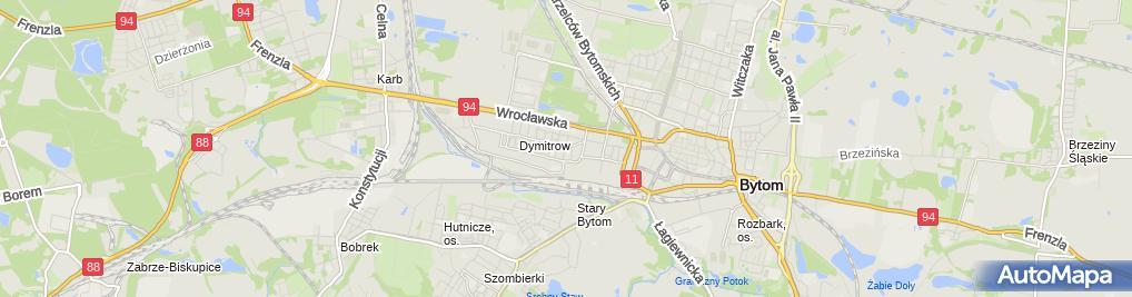 Zdjęcie satelitarne Ewa Berezowska Breguła Zakład Fryzjerski Ewa