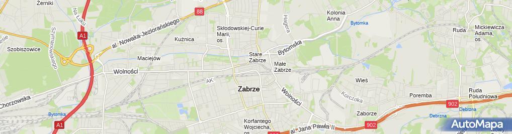 Zdjęcie satelitarne Fryga Mirosław Zakład Fryzjersko Kosmetyczny Barbara Fryga Mirosław Fryga