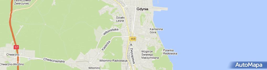 Zdjęcie satelitarne Iwona Zgliczyńska Usługi Fryzjerskie