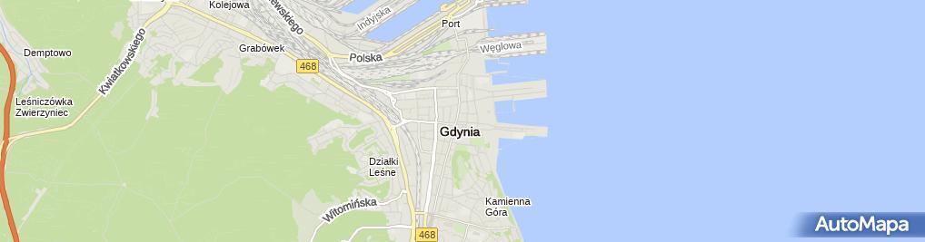 Zdjęcie satelitarne Marcin Grajewski Studio Fryzjerskie