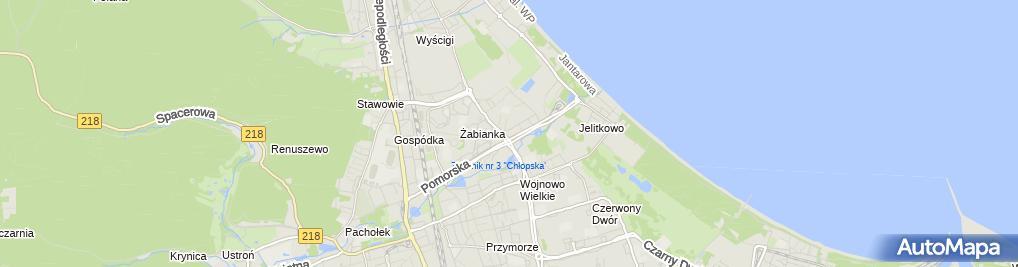 Zdjęcie satelitarne Salon Fryzjerski Dana