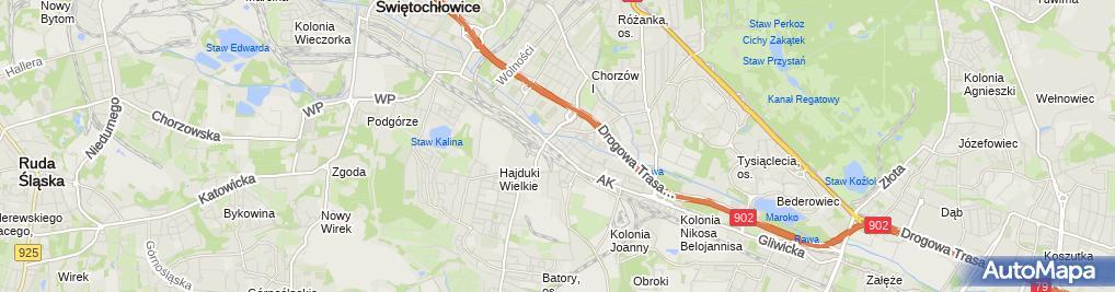 Zdjęcie satelitarne Salon Fryzjerski Ewa Ewa Staniszewska