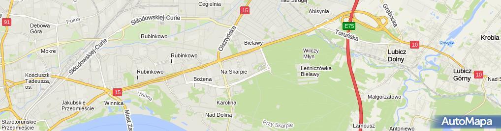 Zdjęcie satelitarne Salon Fryzjersko Kosmetyczny D N A Węgierska Mieczysława