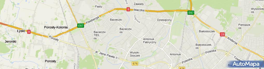 Zdjęcie satelitarne Salon Fryzjersko Kosmetyczny Usługi Transportowe