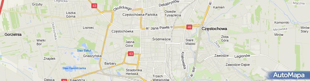 Zdjęcie satelitarne Studio Fryzjerskie Jerzy Jerzy Zielonka