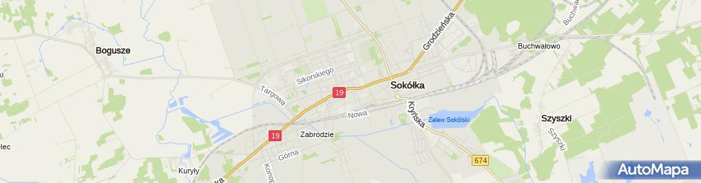 Zdjęcie satelitarne Zakład Fryzjerski Damdko Męski