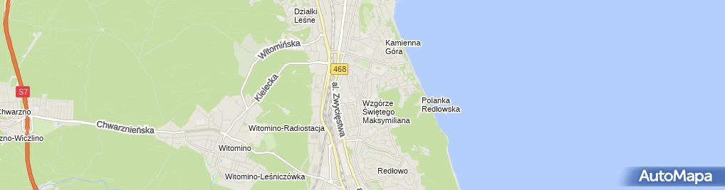 Zdjęcie satelitarne Zakład Fryzjerski Damski