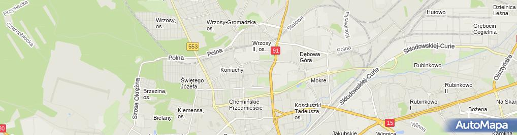 Zdjęcie satelitarne Zakład Fryzjerski Damsko Męski Ewelina Kowalska Ewelina