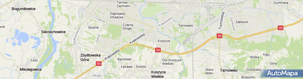 Zdjęcie satelitarne Zakład Fryzjerski Damsko Męski