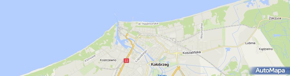 Zdjęcie satelitarne Zakład Fryzjerski Gołczyńska