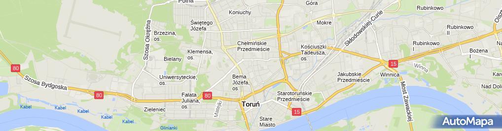 Zdjęcie satelitarne Zakład Fryzjerski Magdalena