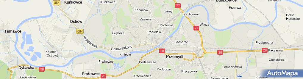 Zdjęcie satelitarne Zakład Fryzjerski Męski