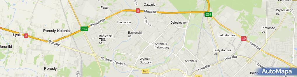 Zdjęcie satelitarne Zakład Fryzjerski Sylwia