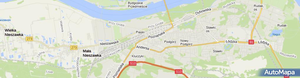 Zdjęcie satelitarne Zakład Fryzjerski