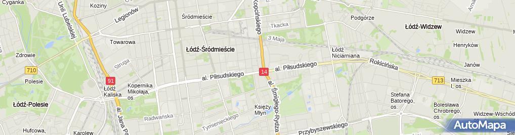 Zdjęcie satelitarne Zakład Fryzjersko Kosmetyczny