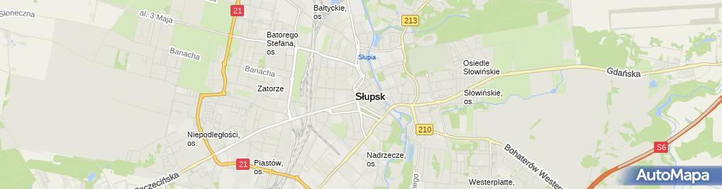Zdjęcie satelitarne Zakład Fryzjersko-Kosmetyczny