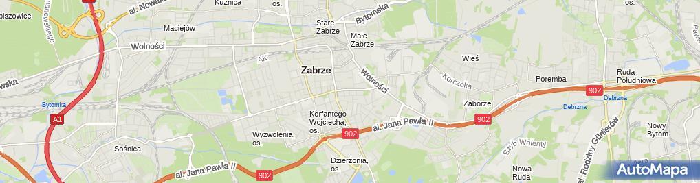 Zdjęcie satelitarne Zakład Fryzjerstwa Damsko Męskiego