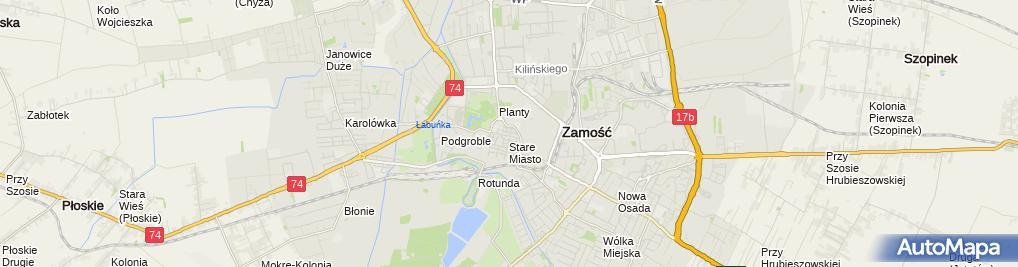 Zdjęcie satelitarne Fundacja Nachlas Kedimim-Radoszyce