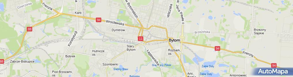 Zdjęcie satelitarne Górnośląskie Stowarzyszenie Ośrodków Szkolenia