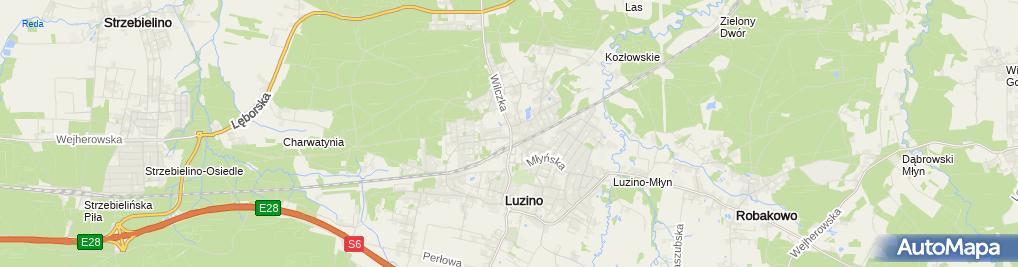"""Zdjęcie satelitarne Lokalna Grupa Działania """"Kaszubska Droga"""""""