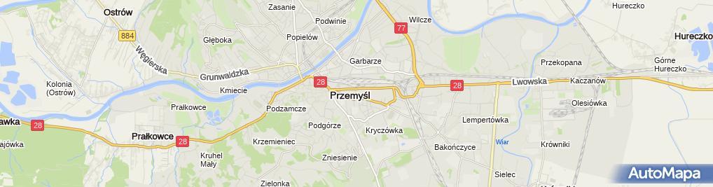 Zdjęcie satelitarne Podkarpackie Stowarzyszenie Gospel