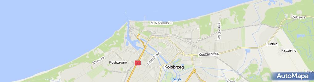 Zdjęcie satelitarne PTTK o. Kołobrzeg