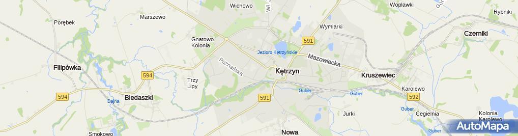 Zdjęcie satelitarne Stowarzyszenie Amatorskiej Orkiestry Dętej w Kętrzynie
