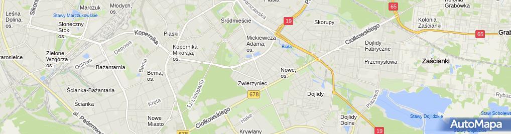 Zdjęcie satelitarne Stowarzyszenie Białostockiego Obszaru Funkcjonalnego