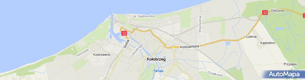 Zdjęcie satelitarne Stowarzyszenie Polskich Kucharzy i Cukierników Oddział Zachodniopomorski