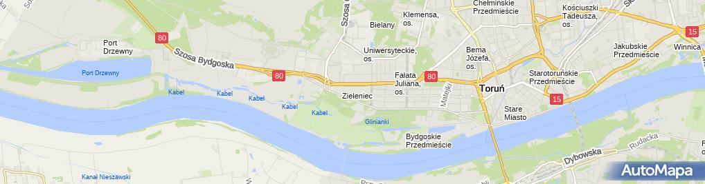 Zdjęcie satelitarne Stowarzyszenie Studentów Uczelni Toruńskich w Likwidacji