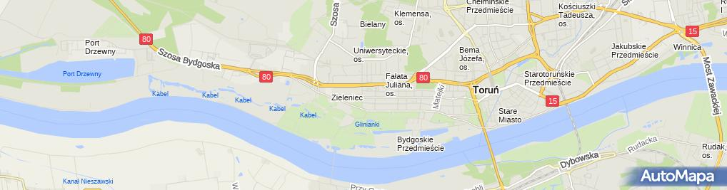 Zdjęcie satelitarne Beauty Medica - Depilacja laserowa Toruń