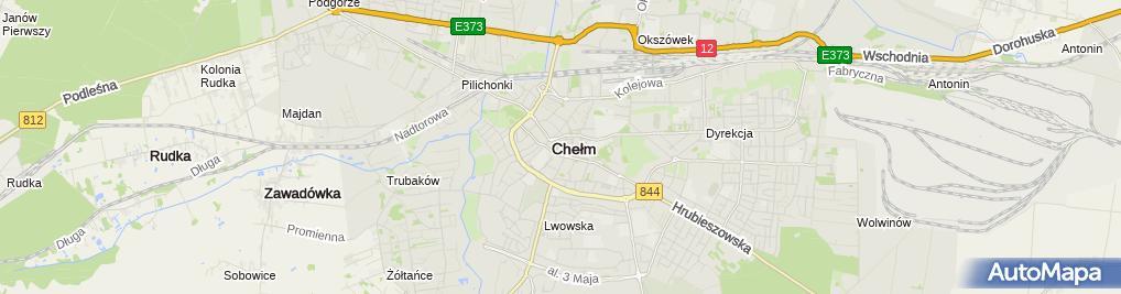 Zdjęcie satelitarne Galeria 72 Muzeum Ziemi Chełmskiej