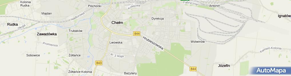Zdjęcie satelitarne Gama - Sklep