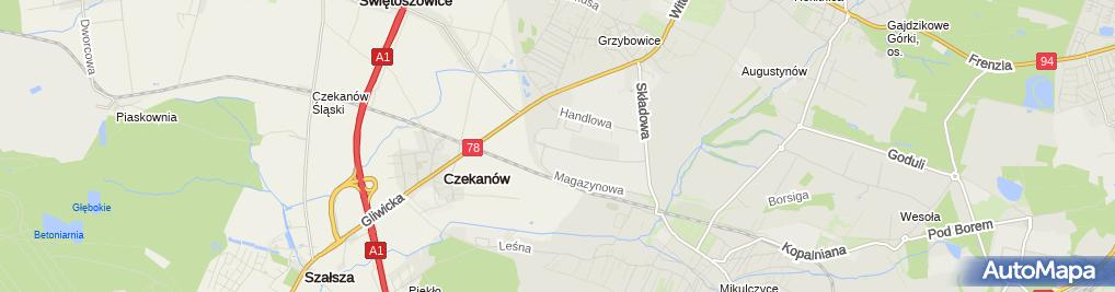 Zdjęcie satelitarne Górnośląski Zakład Obsługi Gazownictwa