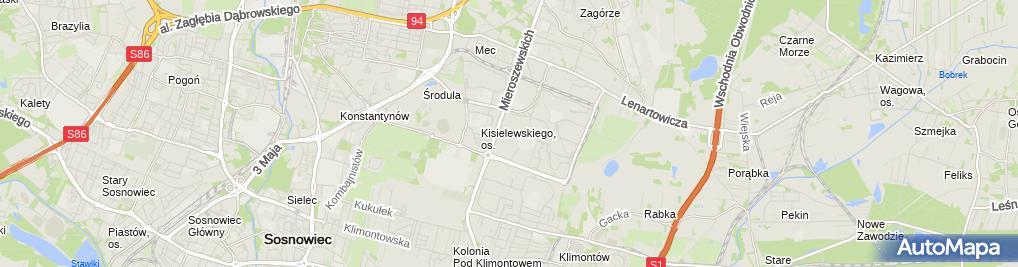Zdjęcie satelitarne Pracownia Geodezyjna GEO-GRUNT Dawid Gąsior