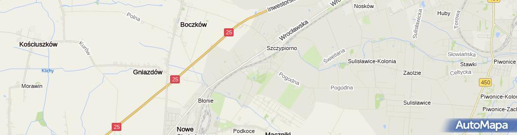 Zdjęcie satelitarne Usługi Geodezyjno-Kartograficzne Paweł Trzęsała