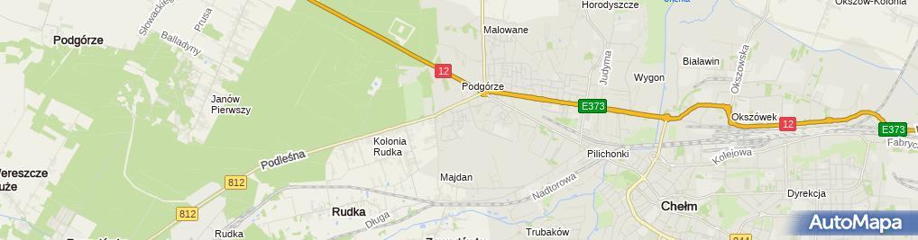 Zdjęcie satelitarne Groszek - Sklep