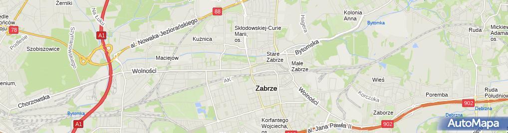 Zdjęcie satelitarne Gruby Benek - Pizzeria