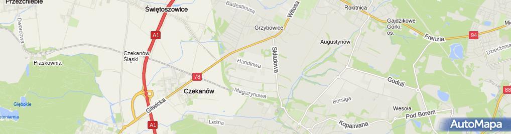 Zdjęcie satelitarne ŻSiD o Zabrze