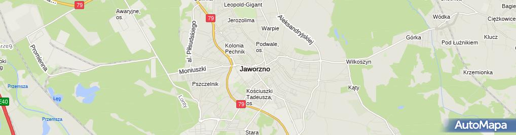 Zdjęcie satelitarne Hala Widowiskowo-Sportowa MCKIS