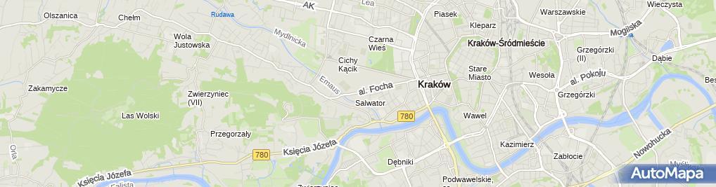 Zdjęcie satelitarne KARCHER Hala Cracovia Centrum Sportu Niepełnosprawnych