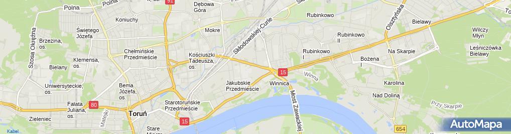 Zdjęcie satelitarne SMH Toruń