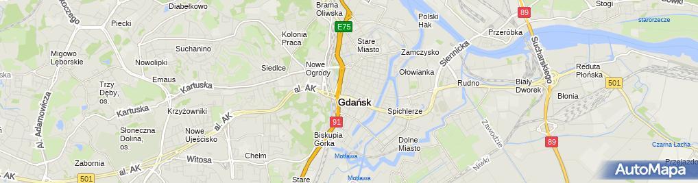 Zdjęcie satelitarne Ośrodek Dom Harcerza Związku Harcerstwa Polskiego