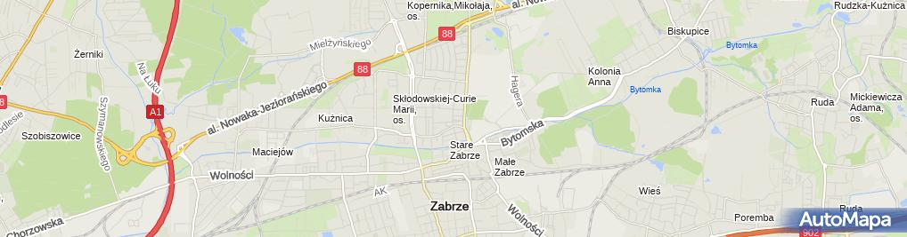 Zdjęcie satelitarne ApartHouse Marta Śliwińska