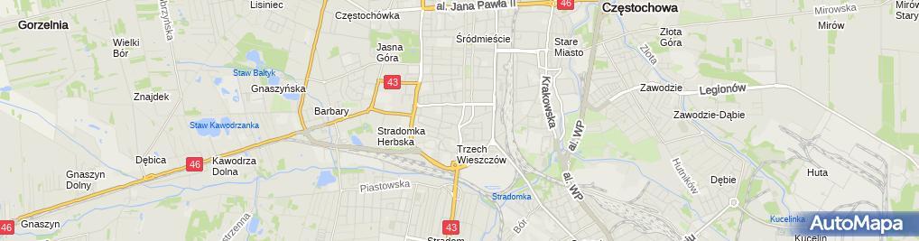 Zdjęcie satelitarne BROWAR CZENSTOCHOVIA