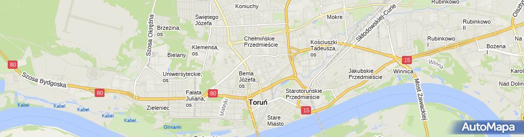 Zdjęcie satelitarne Dom Turysty PTTK