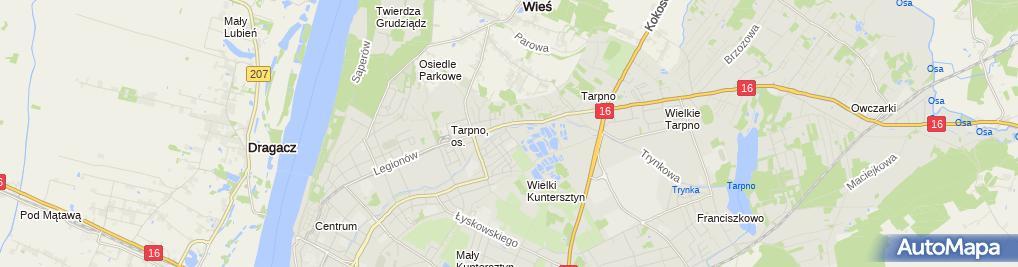 Zdjęcie satelitarne Hotel Tatry