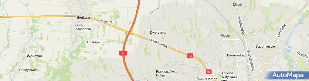 Zdjęcie satelitarne Hotel U Kroczka