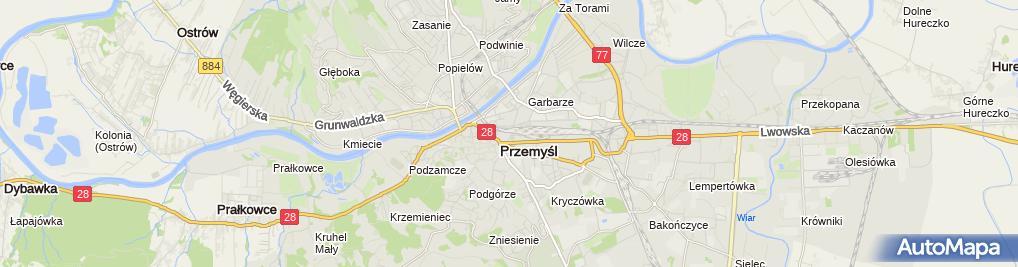 Zdjęcie satelitarne Hotelik Baron Piotr Sykała