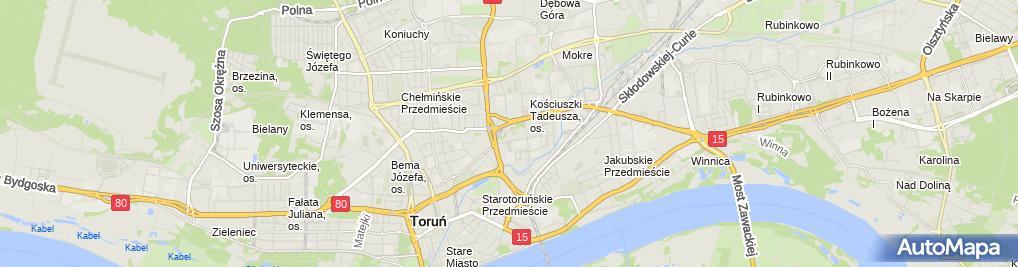 Zdjęcie satelitarne Hotelik Przy Pływalni